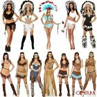 Native American Woman Costume American Cherokee Warrior Indian Huntress Outfit