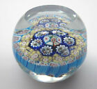 Vintage 1950s Murano Glass Concentric Milifiore Paperweight Great Colors
