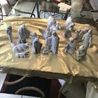 Amazing White Ceramic Nativity Set 9 15pcs