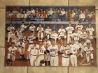 Ron Lewis Multi Signed Baseball Print Signed By Koufax + 25 MLB Authenticated