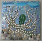 Stained Glass Mosaic Fused Glass Octopus Ocean