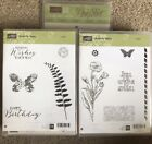 Stampin Up Rubber Stamp Set BUTTERFLY BASICS and BUTTERFLIES DIES Flowers
