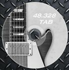 48.328 Guitar and Bass TABS Sheet Music songbook tabulature acustic and electric