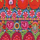 FREE SPIRIT KAFFE FASSETT EMBROIDERED FLOWER BORDER PWKF1 Red by the 1 2 yard