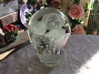 VTG 7 Large Art Glass Paperweight 3 Jellyfish with Controlled Bubbles 6Lbs9Oz