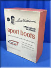 VINTAGE 1960S SEARS TED WILLIAMS KANGAROO LEATHER SPORT BOOTS EMPTY BOX
