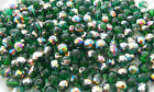 300 Pcs 10mm Czech Fire Polished Faceted Glass Beads KELLY GREEN VITRAIL
