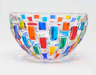 Italian Glass Condiment Bowl Hand Painted Made In Italy