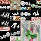 Fondant Cake Cutter Plunger Xmas Cookie Mold Sugarcraft Flower Decorating Mould