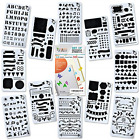 12 PCS Journal Plastic Stencils Set for Bullet Planning Painting Drawing Taking
