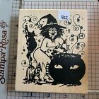 New Northwoods Rubber Stamp Halloween Fall Theme Excellent Quality Stamp 422