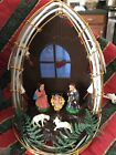 Vintage Holy Night Plastic Christmas Nativity Light Up 3D Manger Scene Hong Kong