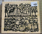 New Northwoods Rubber Stamp Halloween Fall Theme Excellent Quality Stamp 433