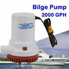 Electric Marine Bilge Sump Pump 2000GPH 12v Unlike Rule 1500gph 2500Gph 3000Gph