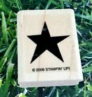 Stampin Up Star Rubber Stamp 2006 Wooden Mounted