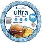 Members Mark Ultra 85 Printed Paper Plates 300 ct FREE SHIPPING
