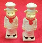 French Chef Pig Salt and Pepper Shakers m