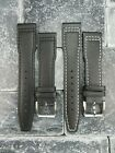 New 20mm CALF Leather Strap Black Watch Band for IWC PORTUGIESER Pilot Top Gun