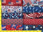 Patriotic Jelly Roll 40 2 1 2  Strips Quilting  Sewing Fabric