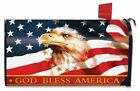 MB22 GOD BLESS AMERICA PATRIOTIC EAGLE MAGNETIC MAILBOX COVER STANDARD SIZE