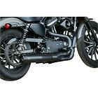 SS Superstreet 2 into 1 Black Exhaust System for 07 13 XL Sportster