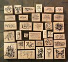 LARGE LOT 33 PSX DESIGNS Wood Mount Rubber Stamps Assorted Excellent Deal