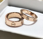 LOVE SCREW RING GOLD SILVER ROSE GOLD CRYSTAL WEDDING