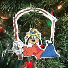Handmade Cross Stitch Christmas Ornament-Goofy-Gone Fishing-Home Decor-Fun-Silly
