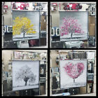 White pink yellow tree decor pictures with crystals liquid art  mirror frames