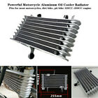 Motorcycle Aluminum Oil Cooler Radiator 125 250cc Engines Fit For Yamaha Honda