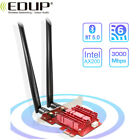 EDUP 24 5Ghz Wifi 6 3000Mbps AX200NGW PCI E Wireless Card Adapter Bluetooth 50