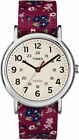 Timex TW2R29700, Women's Weekender Floral Fabric Watch, Indiglo
