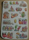 Vintage Scratch  Sniff Stickers Jelly Beans Scented Sheet Mark 1 1983