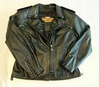 PRISTINE Harley Davidson Lined Leather Biker Riding Jacket Womens SMALL