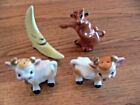 TWO sets pairs of Vintage Cow Salt  Pepper Shakers One Price for both