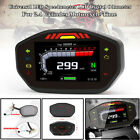 Universal Motorcycle LED Speedometer LCD Digital Odometer For2.4 Engine Cylinder