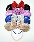 Minnie Mouse With Bow Mickey Mouse Ears Headband Disney adult kid Set of 4