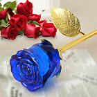 24K Gold Crystal Rose Dipped Flower Real Stem Romantic Valentines Day Love Lady