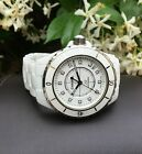 CHANEL J12 WHITE CERAMIC 38MM AUTOMATIC H5705