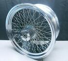 RIDE WRIGHT HARLEY SOFTAIL DYNA TOURING 80 SPOKE LACED REAR CHROME WHEEL 18X8.5