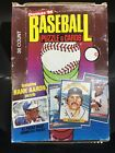 1986 donruss wax box - clean & packs still perfectly aligned - canseco, mcgriff