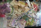 150+ Large Scrapbooking Planner Crafting LOT Stickers Cutout Sticky Notes Scraps