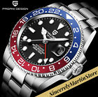 Sapphire Glass Automatic 40mm Stainless Steel GMT Diver Watch Blue Red
