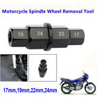 1pc Motorcycle Front Wheel 17,19,22, 24mm Hub Axle Hex Spindle Wheel Driver Tool