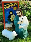 VTG Empire Shepherd w Sheep BlowMold Nativity Christmas With Box Great Condition