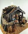 Nativity Scene 360 Degree Christmas Holiday Decor With Battery Light No Star