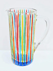 Hand Painted Italian Crystal Timeless Drink Pitcher