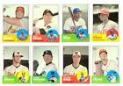 2012 Topps Heritage High (Hi) Number Near Set 59 of 100 Cards