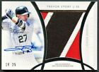 TREVOR STORY 2017 TOPPS DIAMOND ICONS JUMBO 3-COLOR PATCH AUTO AUTOGRAPH 25