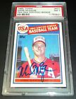 PSA DNA Autograph PSA 7 Rc Mark Mcgwire Auto 1985 Topps Rookie Signed 583 HR'S